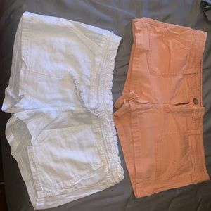 Hollister and Roxy shorts